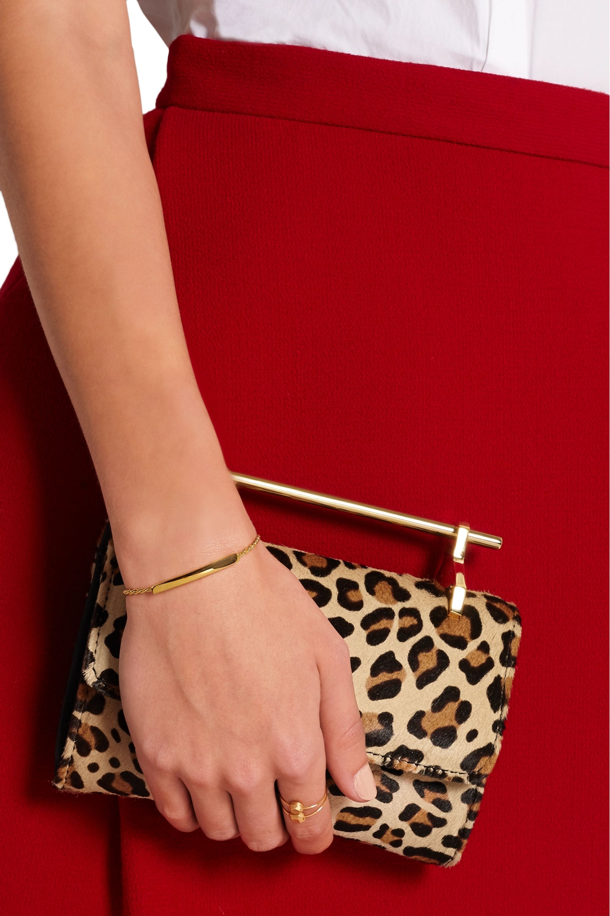 Monica Vinader Linear gold-plated bracelet
