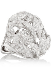 Fly By Night 18-karat white gold diamond ring