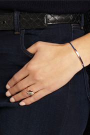 Linear rose gold-plated lapis bracelet