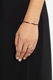 Linear Inlay rose gold-plated onyx bracelet