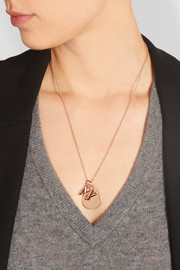Ziggy rose gold-plated pendant