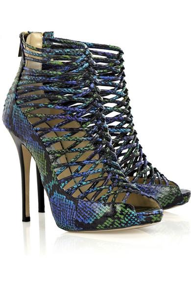 b385307fca Jimmy Choo | Quito snakeskin shoe boots | NET-A-PORTER.COM