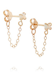 Melissa Joy Manning 14-karat gold opal earrings