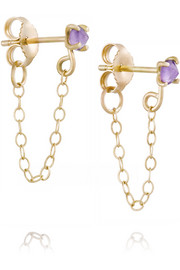 14-karat gold amethyst earrings