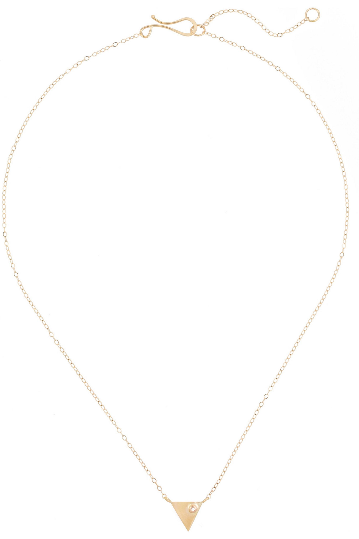 Melissa Joy Manning Kette aus 14Karat Gold mit Diamant