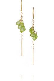 Melissa Joy Manning 14-karat gold peridot earrings