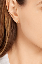 Happy 14-karat gold diamond earrings