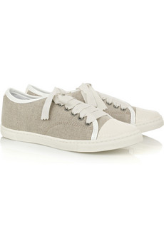 Lanvin Cotton-toile sneakers