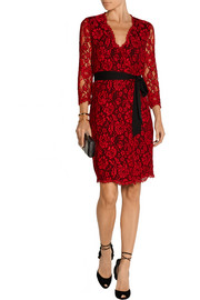 Julianna lace wrap dress