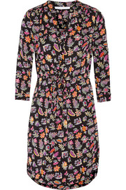 Freya printed stretch-silk dress