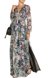 Celia printed silk-chiffon maxi dress