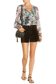 Wynn printed silk-chiffon top