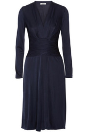 Phyllis silk-blend jersey dress