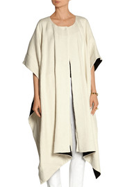 Innesse oversized textured wool-blend cape