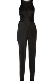 Rubell wrap-effect silk-blend jersey jumpsuit