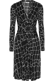 Phylis printed silk-blend jersey dress