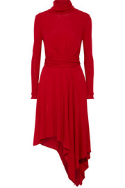 Milten jersey turtleneck dress