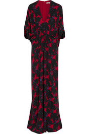 Gisella printed silk maxi dress