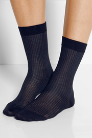 No. 2 set of two silk-blend socks