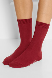 Cosy set of two stretch-knit socks