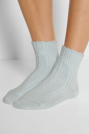 Bedsock set of two knitted socks