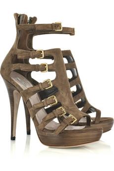 Miu Miu Suede platform gladiator sandals