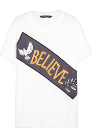 Believe printed cotton T-shirt