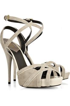 Roberto CavalliSuede ankle-strap sandals