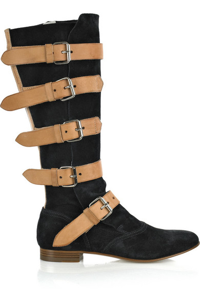 vivienne westwood suede pirate boots net a porter