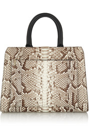 City Victoria python and leather tote