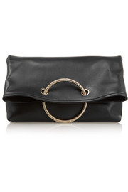 Spiral leather clutch