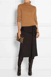 Victoria Beckham Leopard-print calf hair and leather clutch
