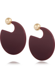 Gold-plated resin earrings