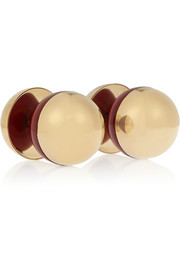 Gold-plated and acrylic cufflinks