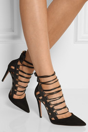 Amazon suede and leather pumps