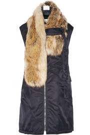 3.1 Phillip Lim Faux fur-trimmed shell gilet
