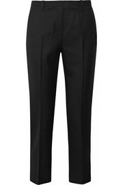 Pencil wool-twill tapered pants