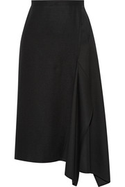 Asymmetric felted wool skirt