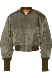 Cropped shell flight jacket