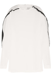 3.1 Phillip Lim Fringe-trimmed silk-georgette blouse