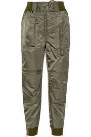 Belted shell tapered flight pants