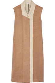 Two-tone wool-blend felt gilet