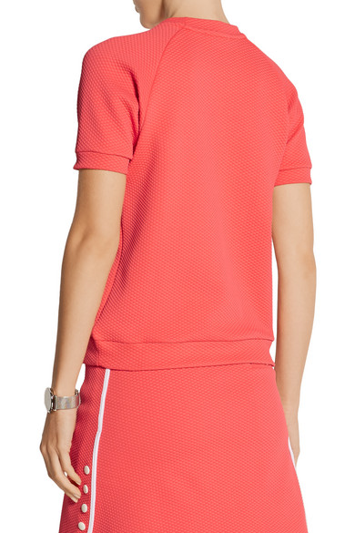 L 39 etoile sport textured stretch jersey tennis top net for Net a porter usa