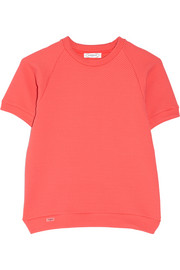 Textured stretch-jersey tennis top