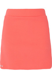 Textured stretch-jersey tennis skirt