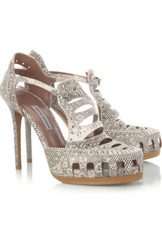Tabitha Simmons | Perforated lizard pumps | NET-A-PORTER.COM from net-a-porter.com