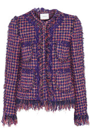 Melanie fringed tweed jacket