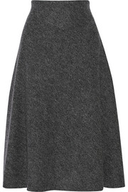 Flared wool midi skirt