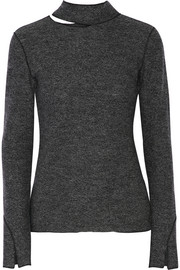 Cutout wool turtleneck sweater