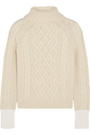 Keswick cable-knit wool turtleneck sweater